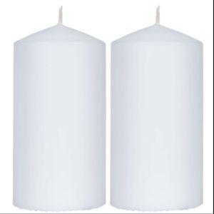 2 pillar candles NEW